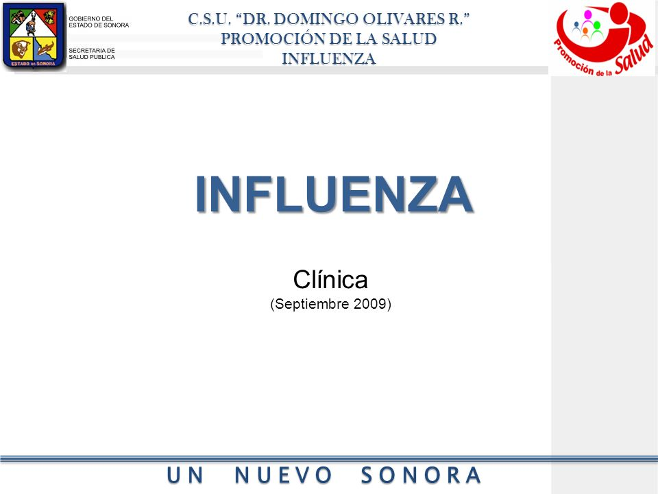 INFLUENZA Clínica (Septiembre 2009)