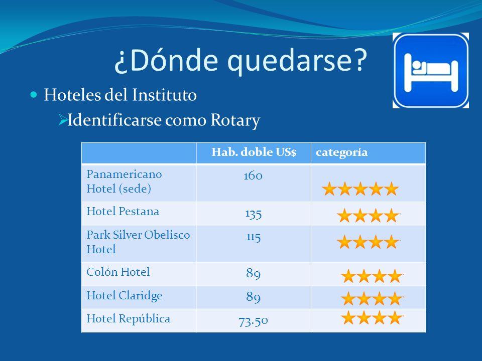 ¿Dónde quedarse Hoteles del Instituto Identificarse como Rotary 160