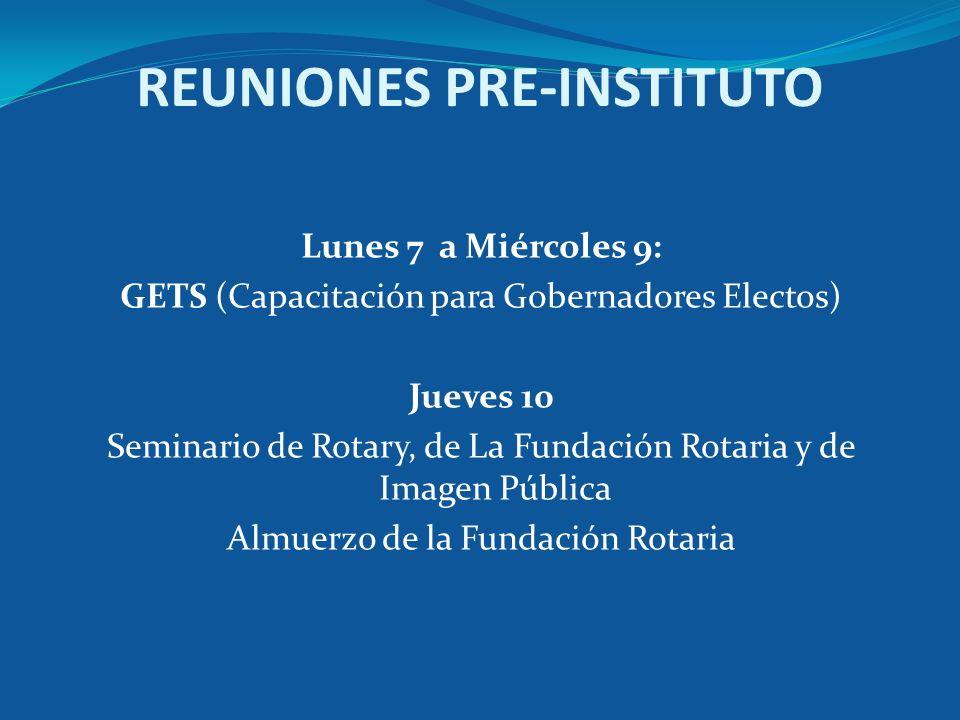 REUNIONES PRE-INSTITUTO