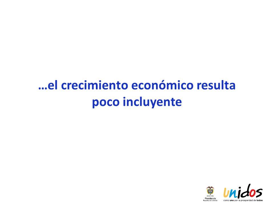 …el crecimiento económico resulta poco incluyente