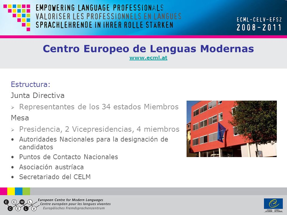Centro Europeo de Lenguas Modernas www.ecml.at