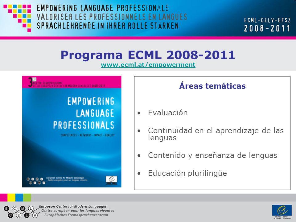 Programa ECML 2008-2011 www.ecml.at/empowerment