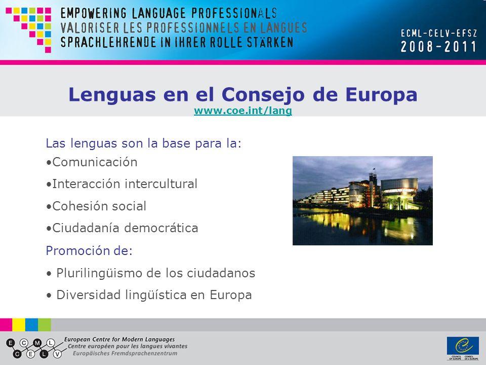 Lenguas en el Consejo de Europa