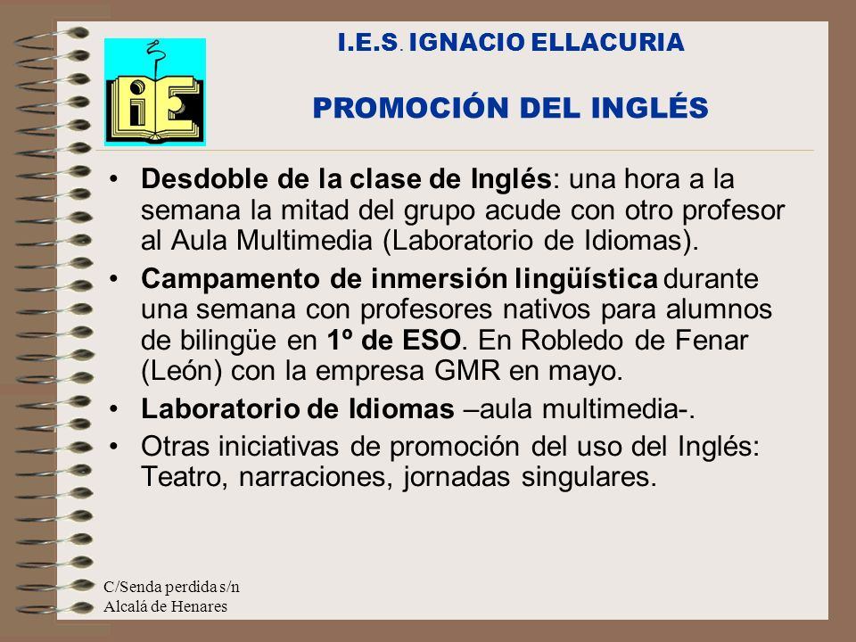Laboratorio de Idiomas –aula multimedia-.