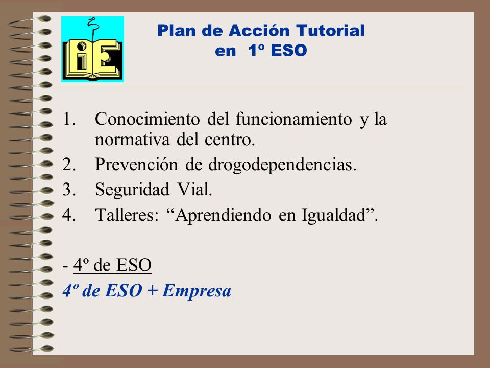 Plan de Acción Tutorial en 1º ESO