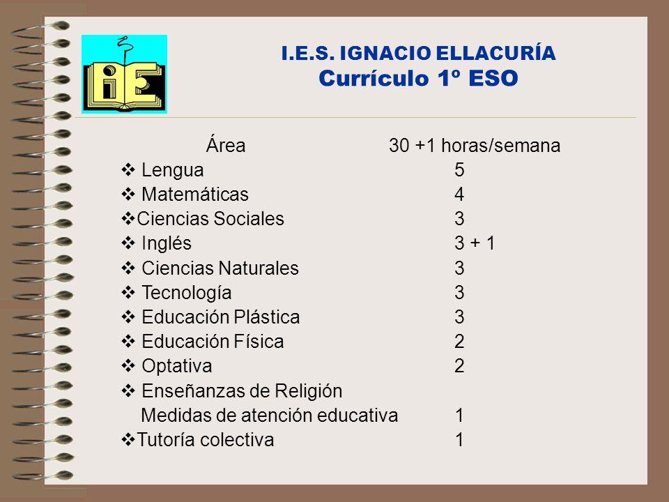 I.E.S. IGNACIO ELLACURÍA Currículo 1º ESO