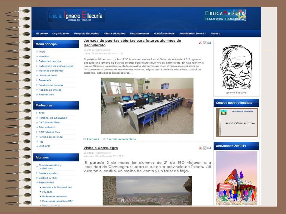 I.E.S. IGNACIO ELLACURÍA Visite nuestra web