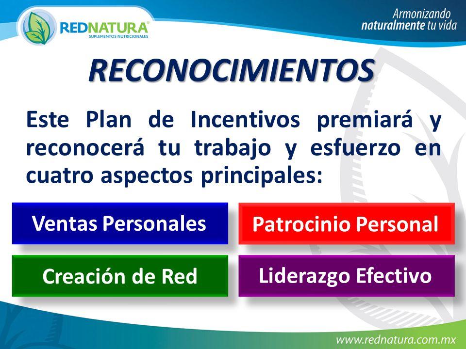 RECONOCIMIENTOS Este Plan de Incentivos premiará y reconocerá tu trabajo y esfuerzo en cuatro aspectos principales: