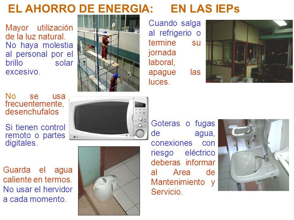 EL AHORRO DE ENERGIA: EN LAS IEPs