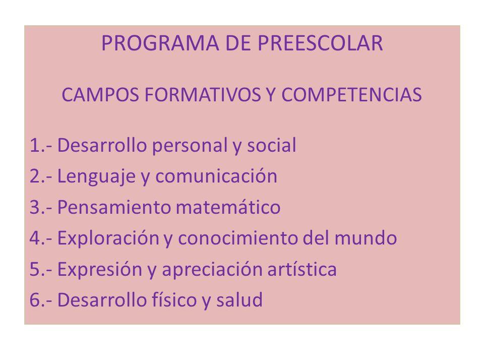 PROGRAMA DE PREESCOLAR