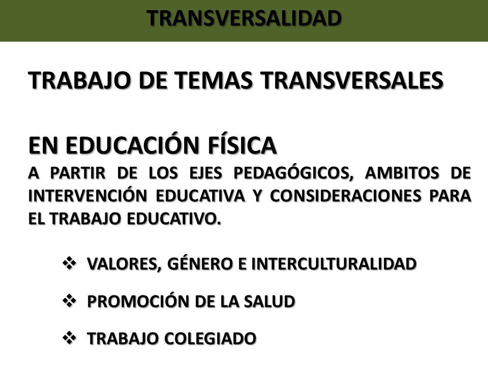 TRABAJO DE TEMAS TRANSVERSALES EN EDUCACIÓN FÍSICA