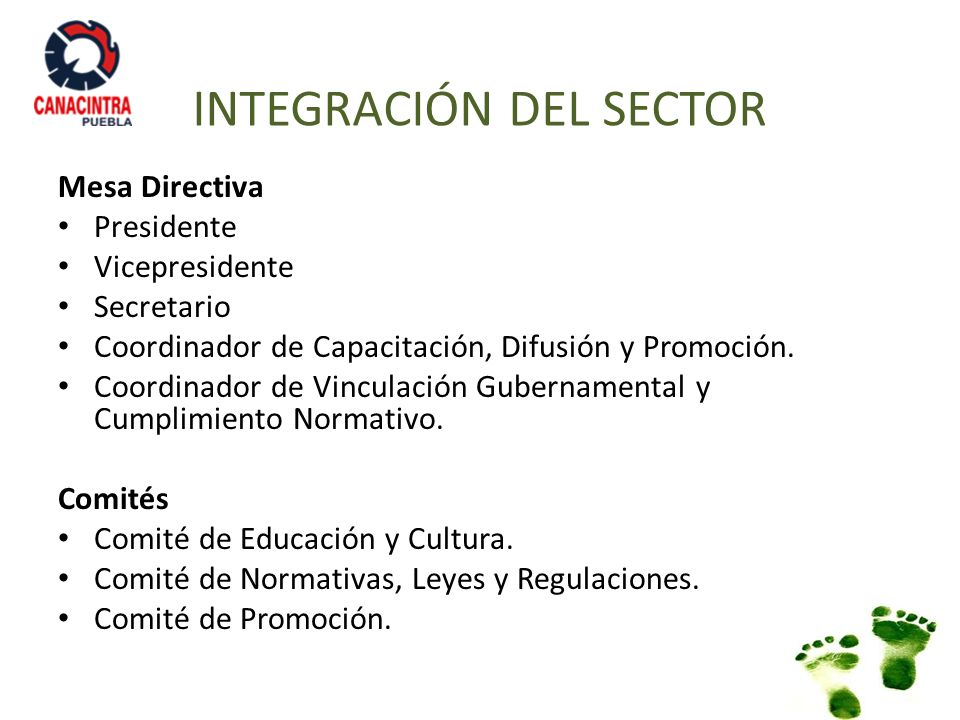 INTEGRACIÓN DEL SECTOR