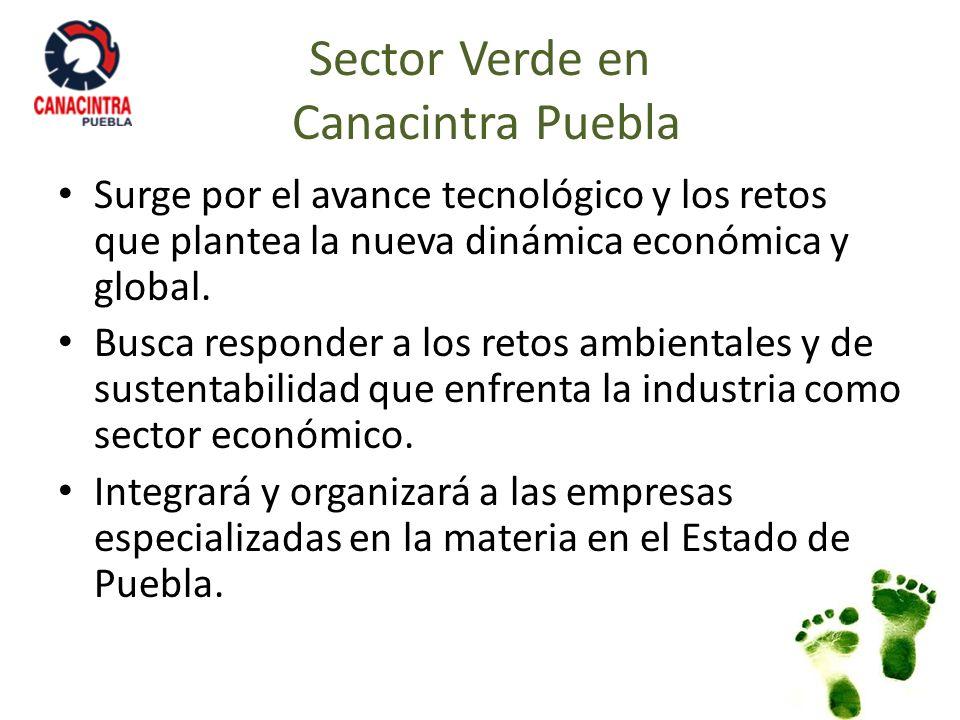 Sector Verde en Canacintra Puebla