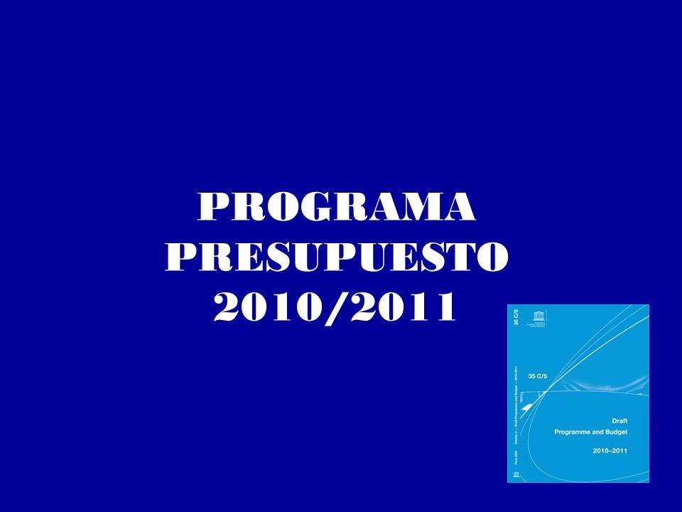 PROGRAMA PRESUPUESTO 2010/2011