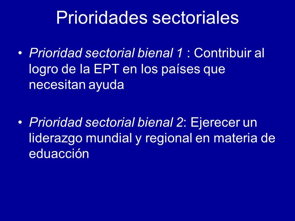 Prioridades sectoriales