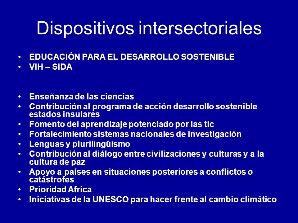 Dispositivos intersectoriales