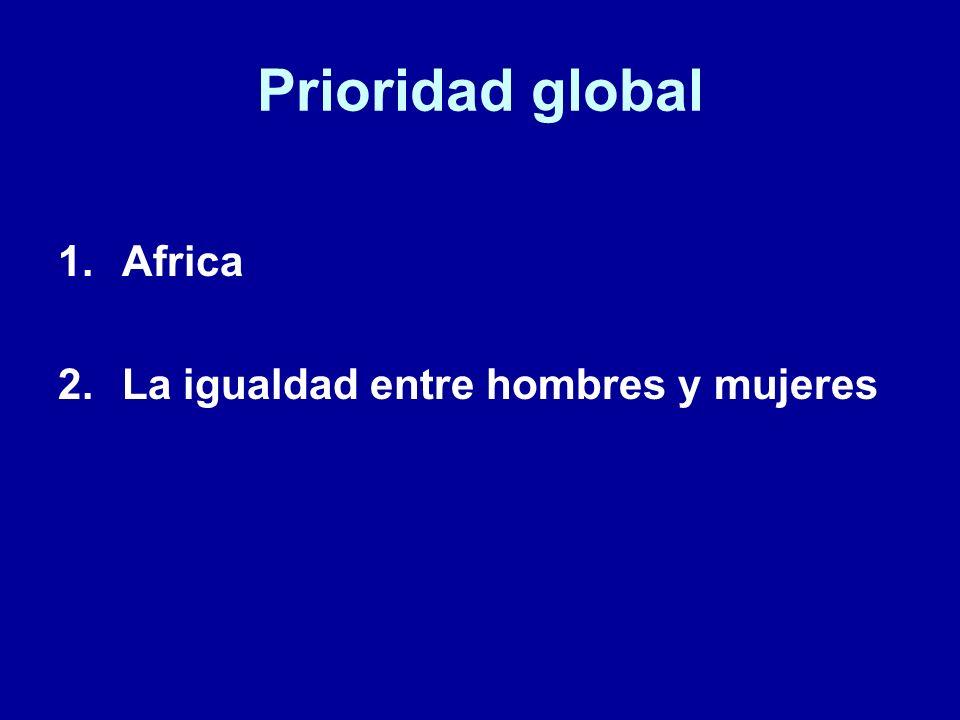 Prioridad global Africa La igualdad entre hombres y mujeres