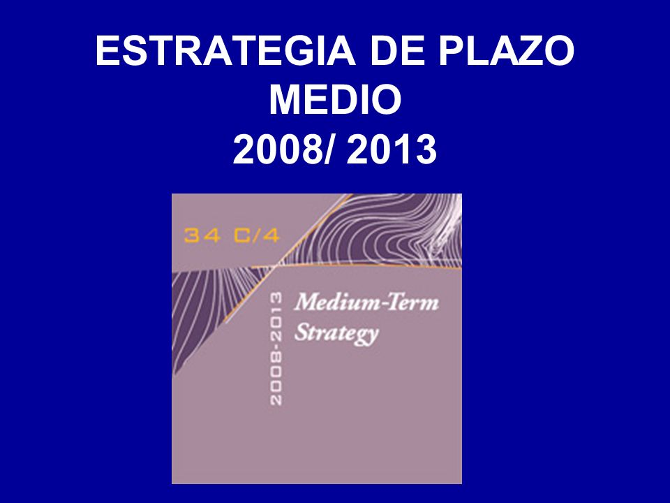 ESTRATEGIA DE PLAZO MEDIO 2008/ 2013