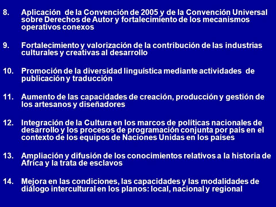 Aplicación de la Convención de 2005 y de la Convención Universal sobre Derechos de Autor y fortalecimiento de los mecanismos operativos conexos