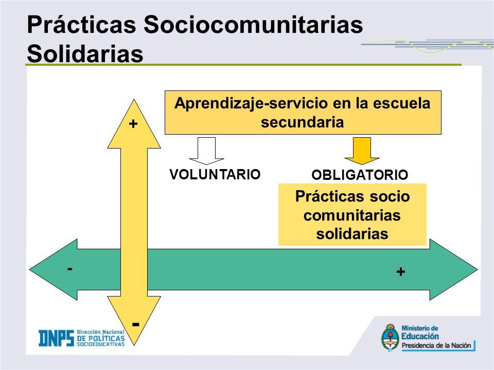 Prácticas Sociocomunitarias Solidarias