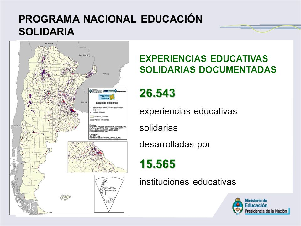 26.543 15.565 PROGRAMA NACIONAL EDUCACIÓN SOLIDARIA