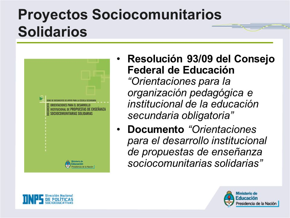 Proyectos Sociocomunitarios Solidarios