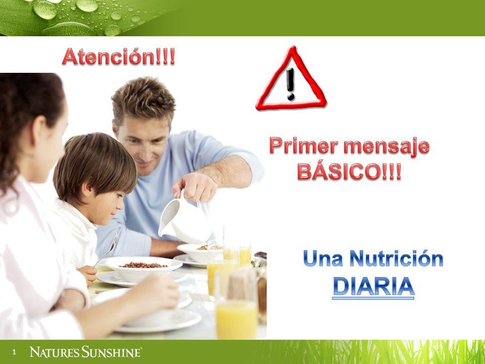 Atención!!! Primer mensaje BÁSICO!!! Una Nutrición DIARIA