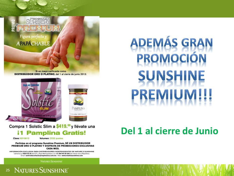 ADEMÁS GRAN PROMOCIÓN SUNSHINE PREMIUM!!!