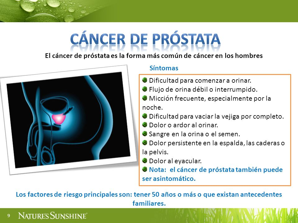 El cáncer de próstata es la forma más común de cáncer en los hombres