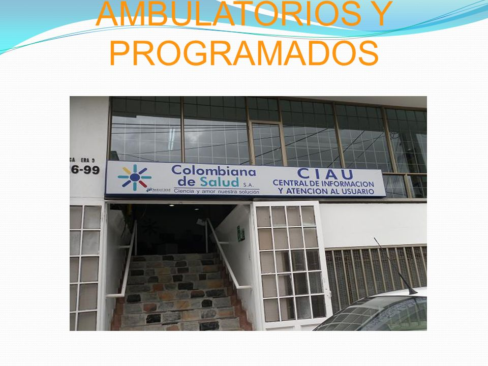 EVENTOS AMBULATORIOS Y PROGRAMADOS