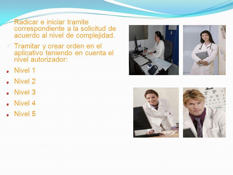 Radicar e iniciar tramite correspondiente a la solicitud de acuerdo al nivel de complejidad.