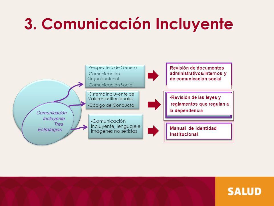 3. Comunicación Incluyente