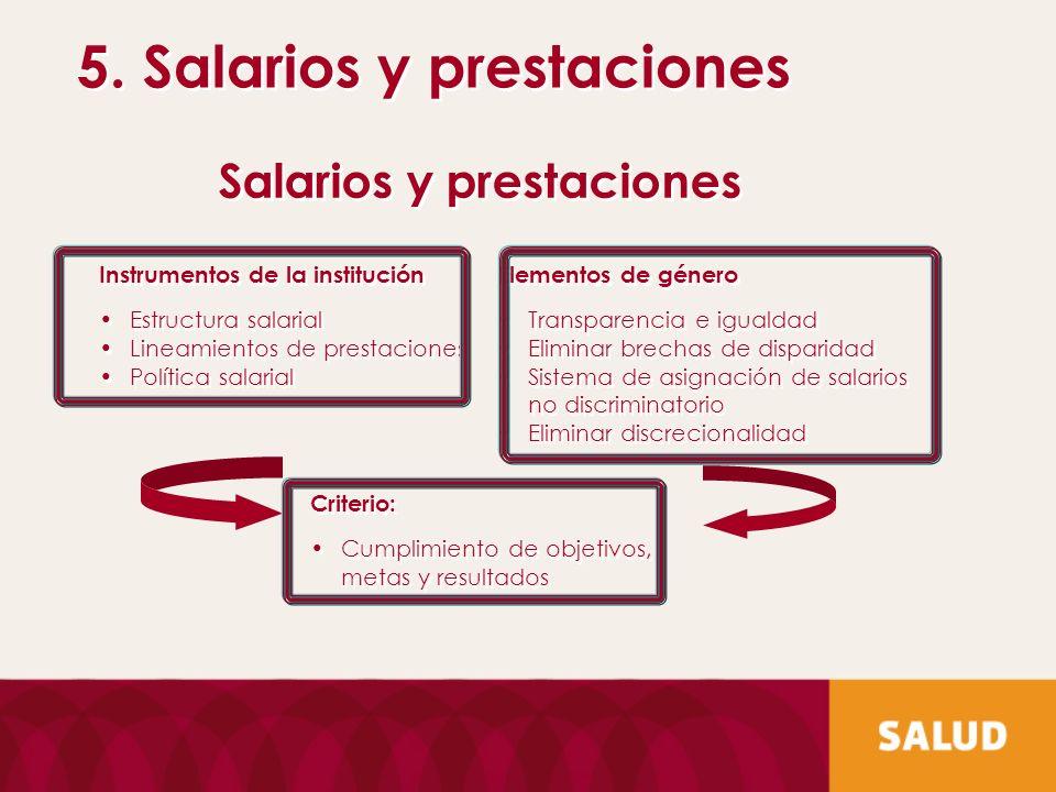 5. Salarios y prestaciones