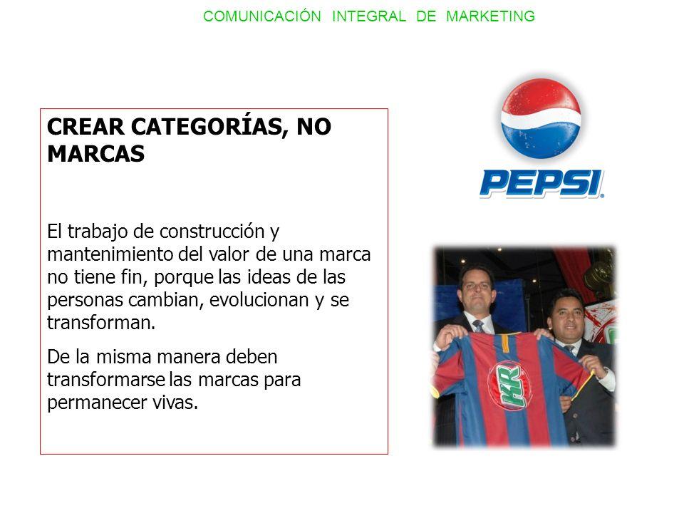 CREAR CATEGORÍAS, NO MARCAS