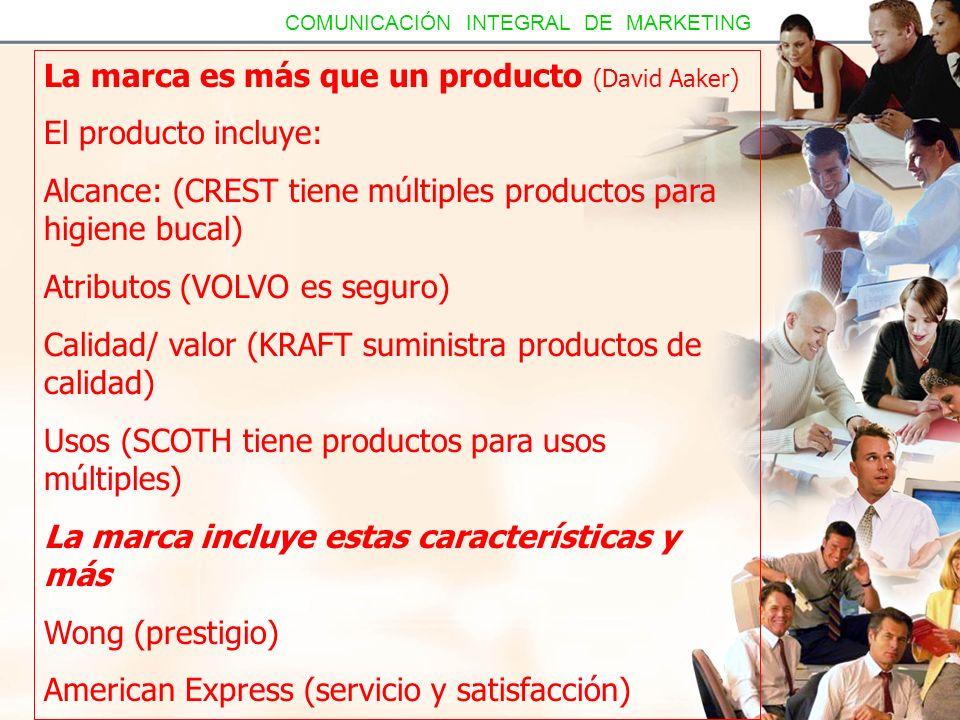 La marca es más que un producto (David Aaker) El producto incluye: