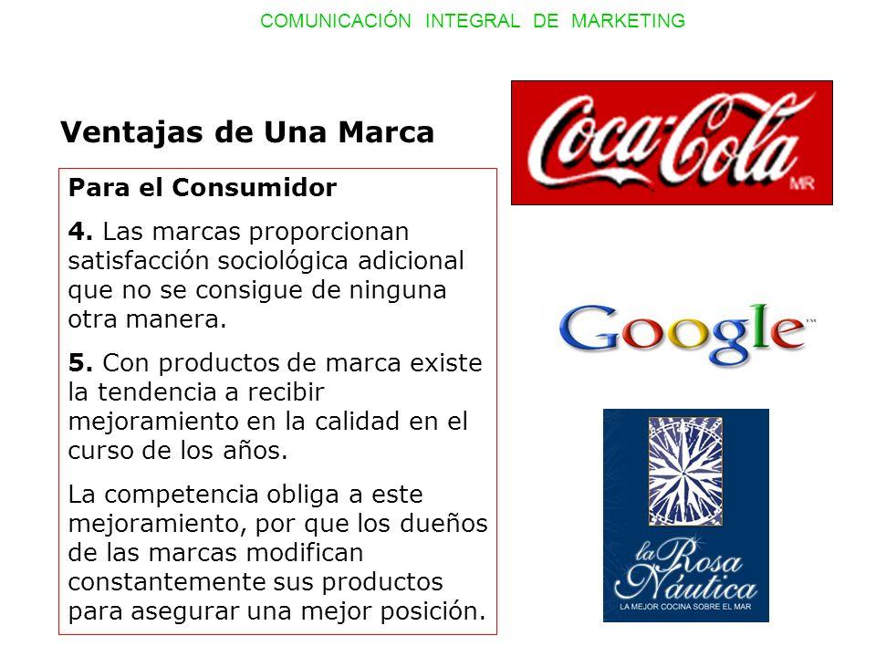 Ventajas de Una Marca Para el Consumidor