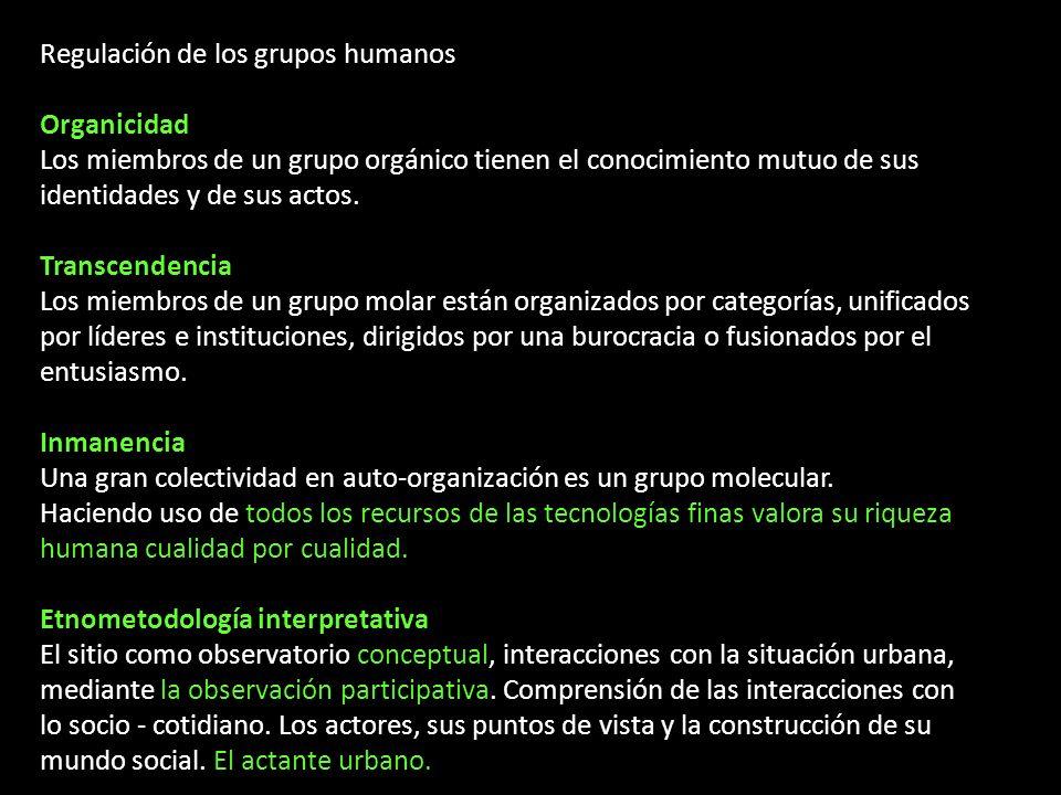 Regulación de los grupos humanos