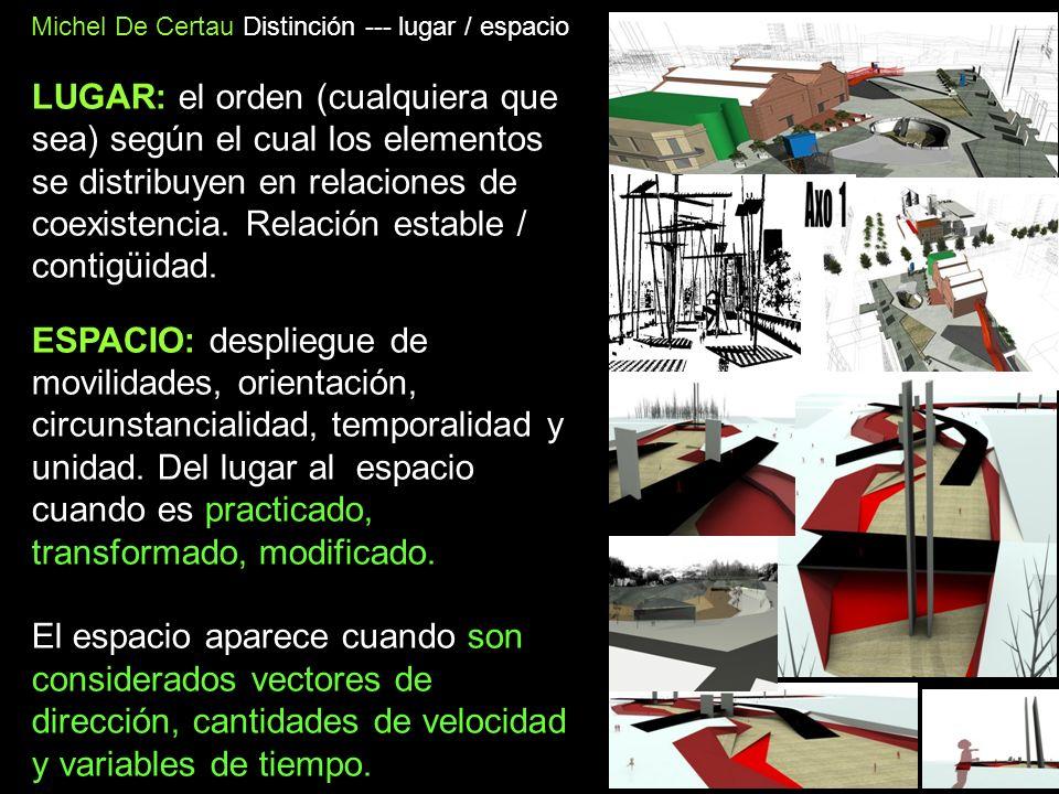 Michel De Certau Distinción --- lugar / espacio