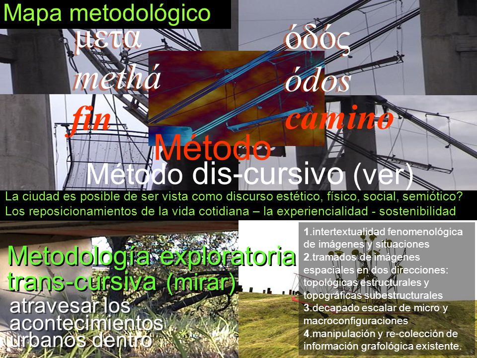 μετά όδός methá ódos fin camino Método Método dis-cursivo (ver)