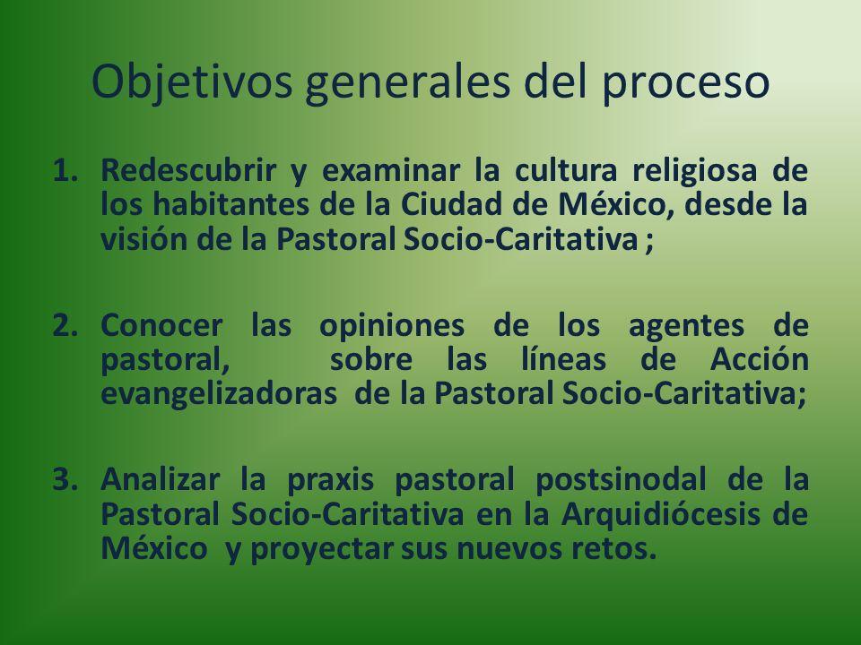 Objetivos generales del proceso