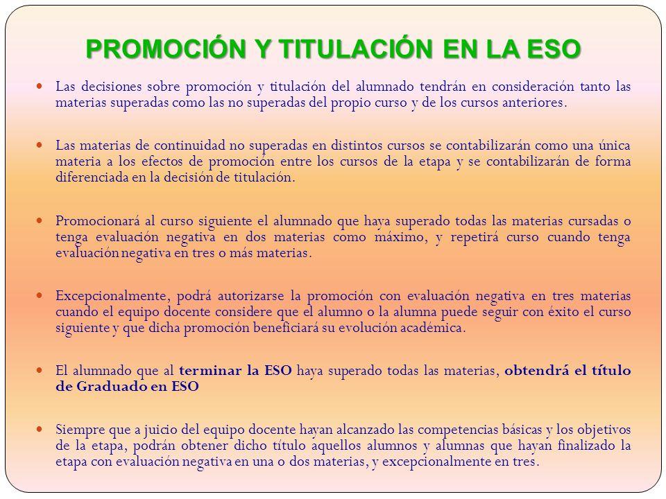 PROMOCIÓN Y TITULACIÓN EN LA ESO