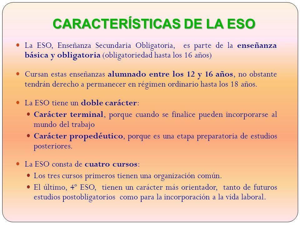 CARACTERÍSTICAS DE LA ESO