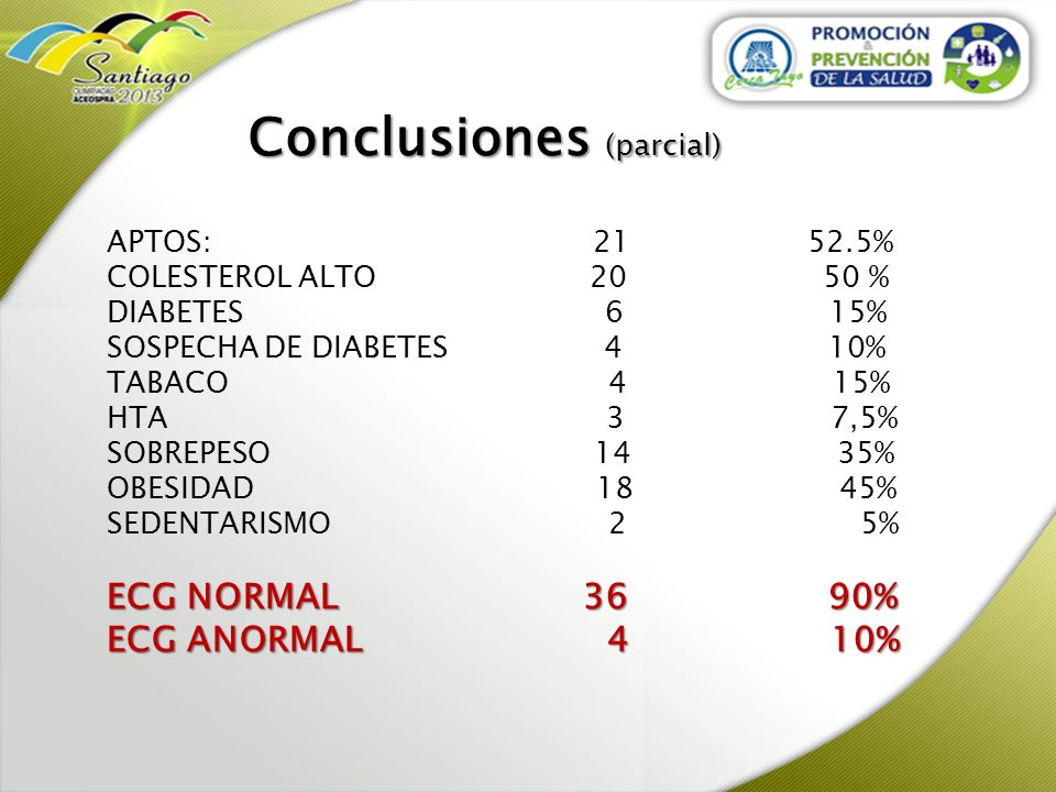 Conclusiones (parcial)