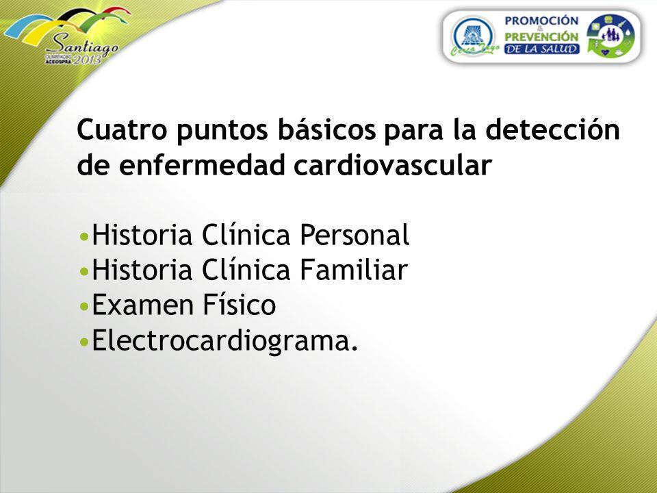 Cuatro puntos básicos para la detección de enfermedad cardiovascular