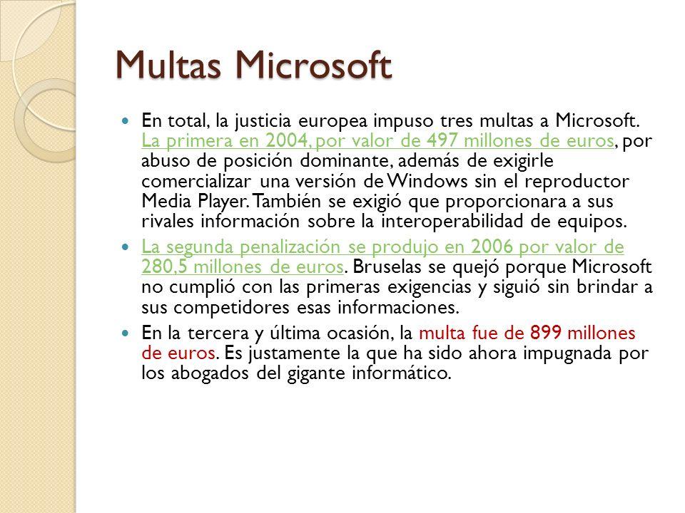 Multas Microsoft