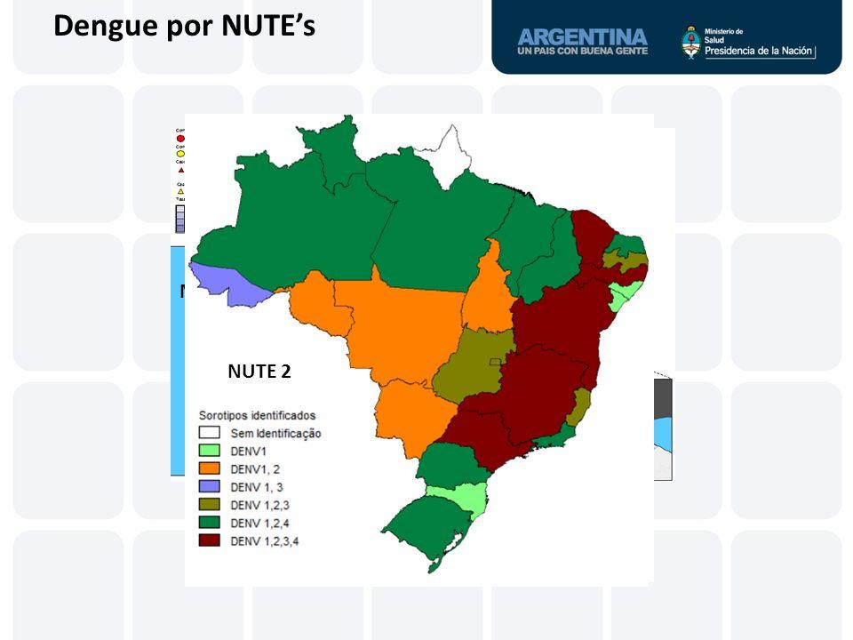 Dengue por NUTE's NUTE 2 NUTE 3 NUTE 4
