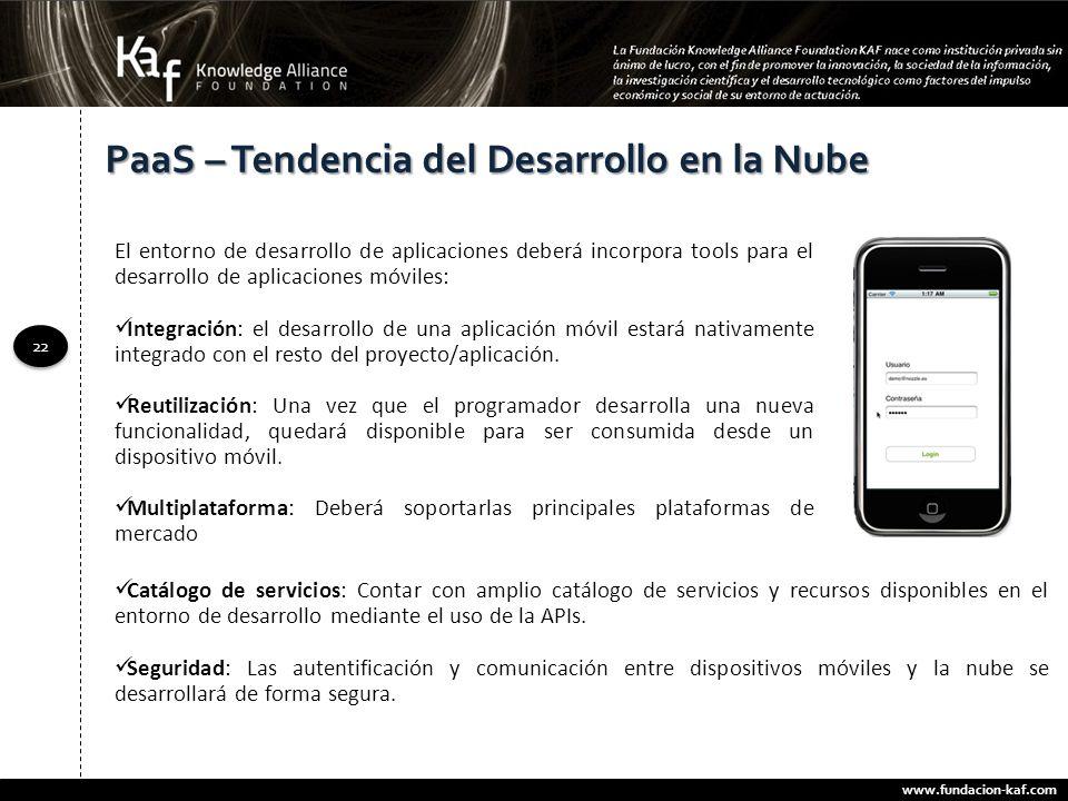 PaaS – Tendencia del Desarrollo en la Nube