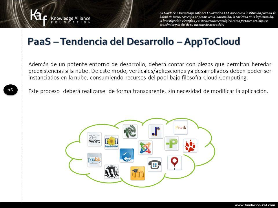PaaS – Tendencia del Desarrollo – AppToCloud