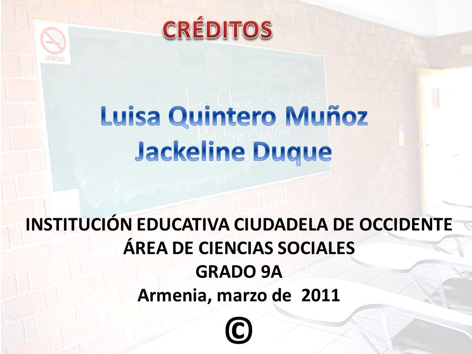 INSTITUCIÓN EDUCATIVA CIUDADELA DE OCCIDENTE ÁREA DE CIENCIAS SOCIALES