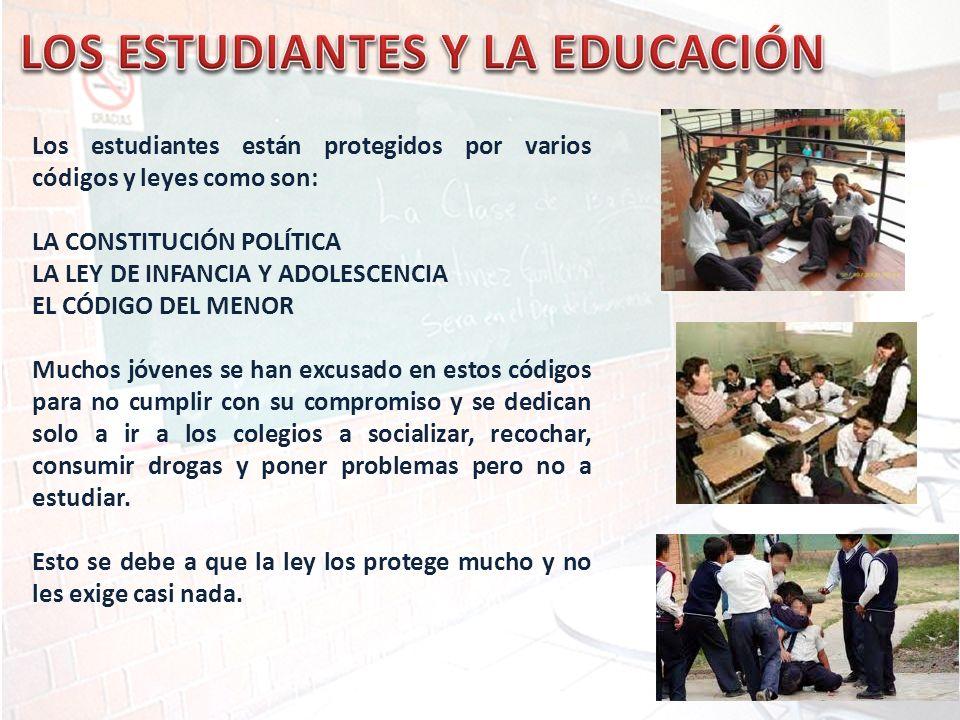 LOS ESTUDIANTES Y LA EDUCACIÓN